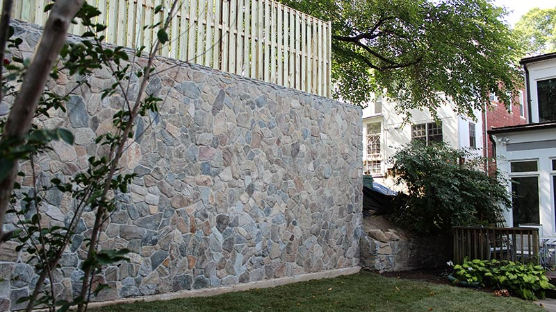Large Retaining Wall Project