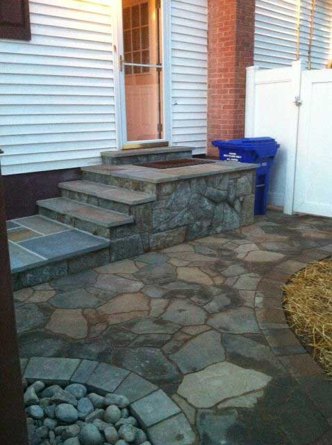 Maryland Flagstone Porch Project Before and After Gallery
